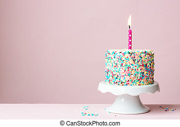 cumpleaños, pastel,