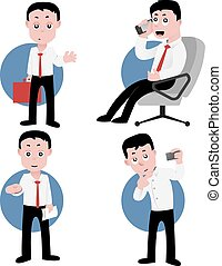 Office worker - office worker in actions