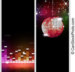 Disco Flyers - disco party music banners for flyers and club...