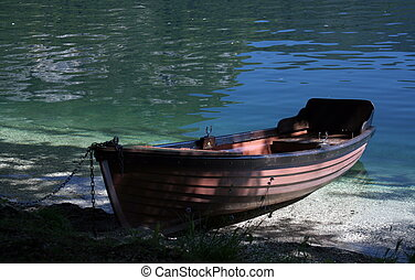 Rowboat by the lake
