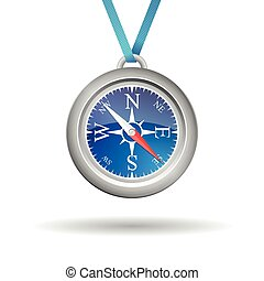 Vector compass with cord