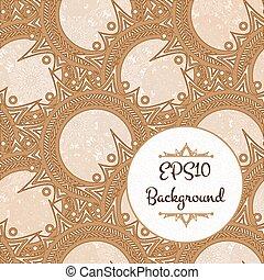Elegant Henna Pattern - Elegant brown pattern of circular...