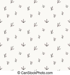 Vector seamless pattern of a variety of hand-drawn leaves...