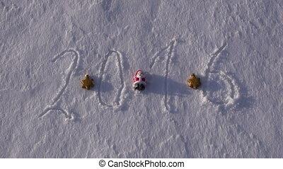 2016 written on the snow