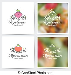 beet and tomato - Vector logo set of beet and tomato for...