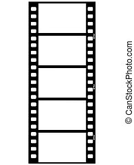 film strip - outline illustration of film strip