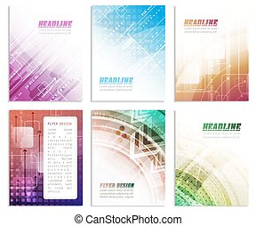 Set of business flyer template, brochure or corporate banner...