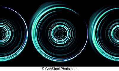 triple green rings flare pattern - beautiful ring lens flare...