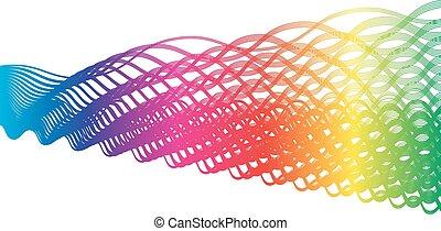 Braided Spectrum - Abstract spectrum gradient in braided...