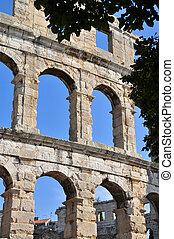Ampitheatre at Pula in Croatia
