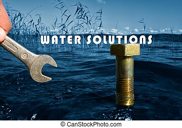 Water solutions conceptual image