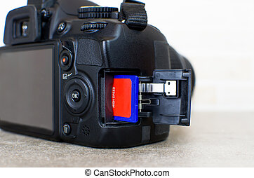 insert sd card camera