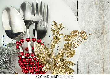 Christmas Holiday Table Setting