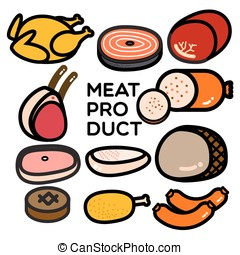 MEAT PRODUCT - Simply graphic of different kinds of meat...