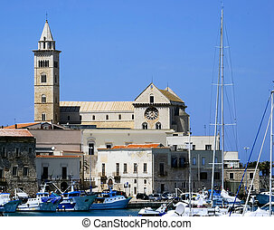 View of the magnificent cathedral of Trani, Puglia. Italy