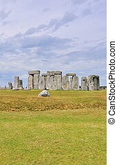 Distnace view of Stonehenge - Stonehenge was built between...