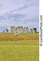 Distnace view of Stonehenge - Stonehenge was built between...