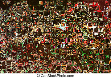 Multicolored square shape pattern as abstract...