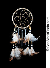 Dream Catcher - A small dream catcher with feathers, beads...