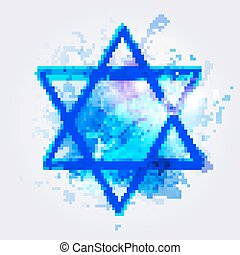 star of David - Vector illustration of star of david
