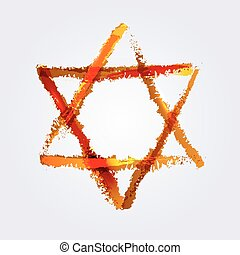 star of David - Vector illustration of star of david