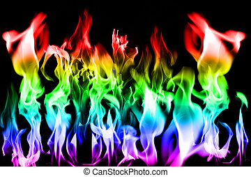 Bright fiery flame effects