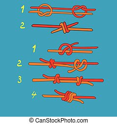 Fisherman`s knoteps - Fisherman`s knot and Double...