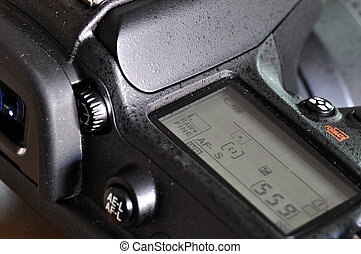 Closeup of proffesional digital camera - Macro of...