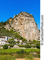 Cliffs of Arco di Trento - Trentino Italy - Rock walls with...