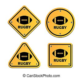 rugby signs - suitable for signs and symbols