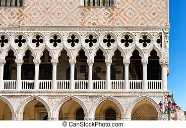 The Doge Palace - Venice Italy - Detail of the Doge Palace...