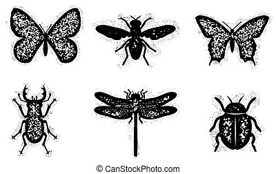 Dirty insect set