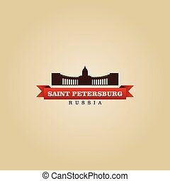 Saint Petersburg Russia city symbol vector illustration