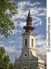 Church of Ascension in Subotica, Serbia, on a sunny day