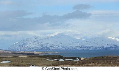 Impressive volcano landscape - Volcano winter mountain...