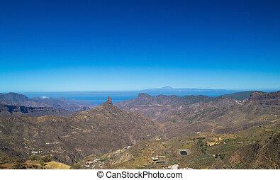 Gran Canaria, Caldera de Tejeda, Roque Bentayga from...