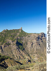 Gran Canaria, Caldera de Tejeda, Roque Nublo, end of summer...