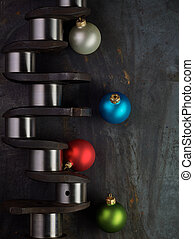 Christmas crankshaft - Shiny christmas bulb and crankshaft...