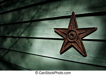 Iron Star - Image of an old iron earthquake support star