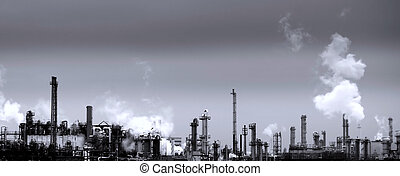 Chemical plant - Huge site of a chemical industry plant