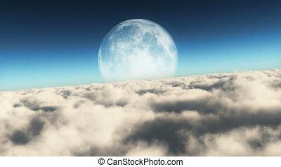 fly moon 4k