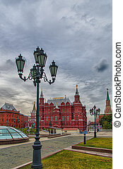 Moscow Red Square - National Historic Museum at Red Square...