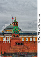 Mausoleum of Lenin - Kremlin, Mausoleum of Lenin, Red Square...