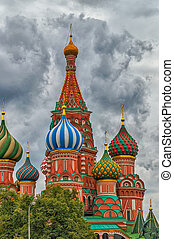 St Basils Cathedral Detail - Architechtural detail of domes...