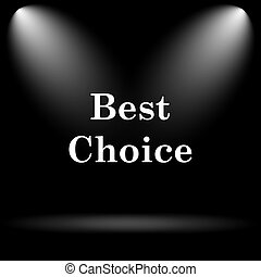 Best choice icon Internet button on black background