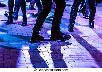 dance floor background - defocused background of a dance...