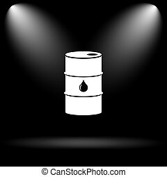Oil barrel icon Internet button on black background