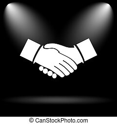 Agreement icon Internet button on black background