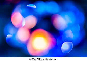 blue Bokeh lights - Background with bokeh defocused lights...