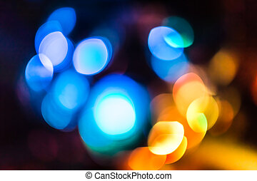Bokeh background - Background with bokeh defocused lights in...